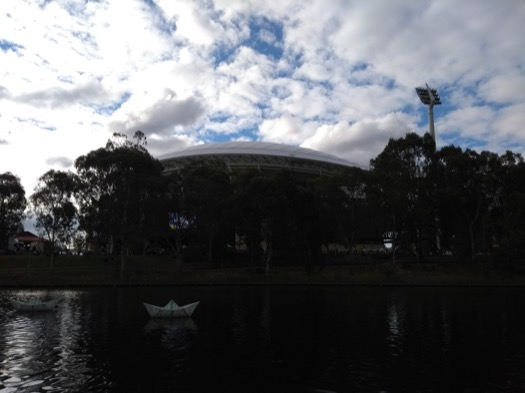 Adelaide Oval, seen from over the river Torrens