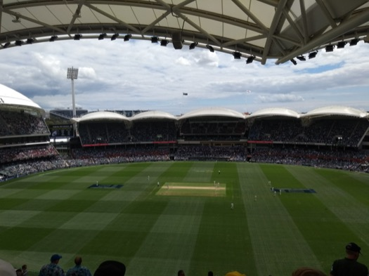 View of the pitch from high in the Adelaide Oval