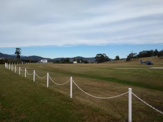Grassy field near Hobart airport