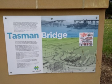 Tasman Bridge info board