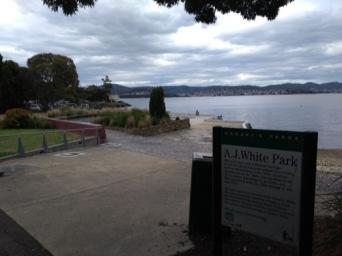 AJ White park, Hobart.