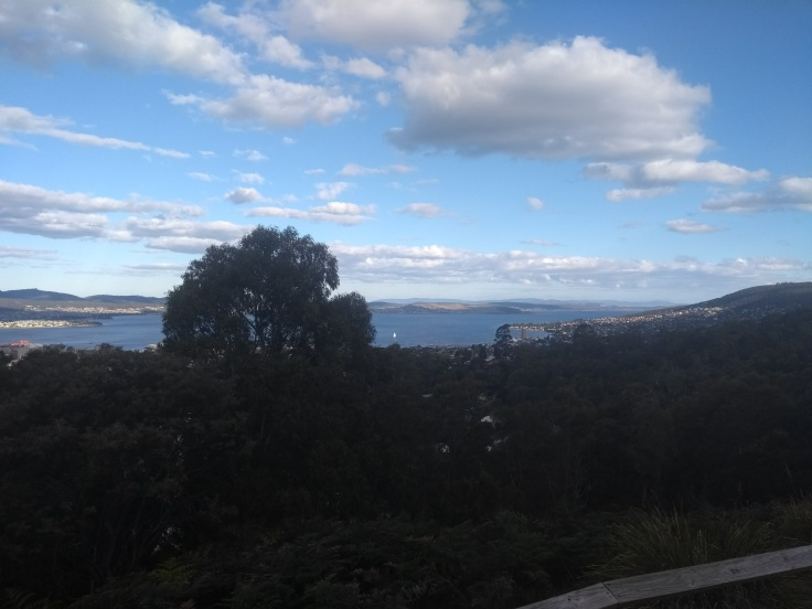 View down over Hobart – this isn't the summit.
