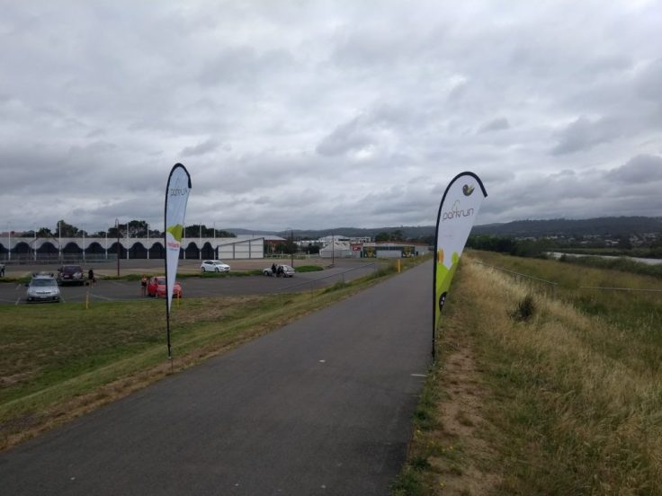 Launceston parkrun start line