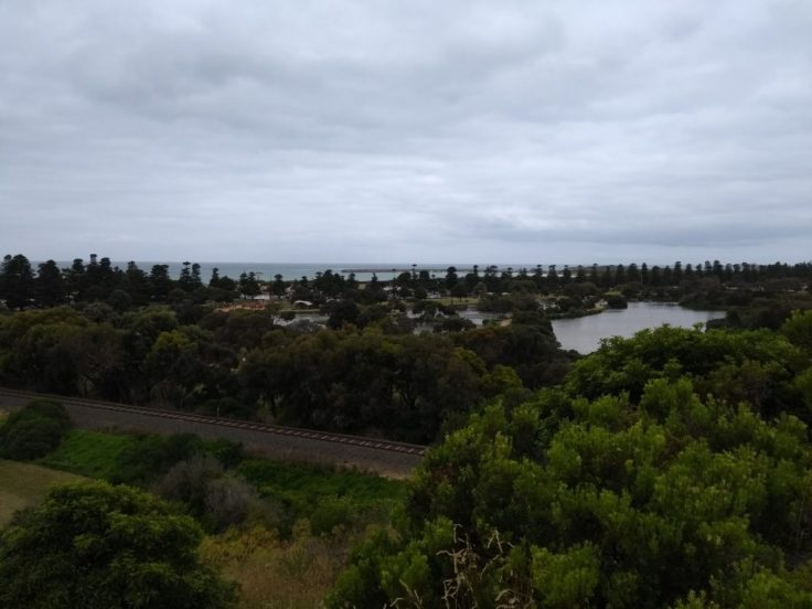 View down to Lake Pertobe