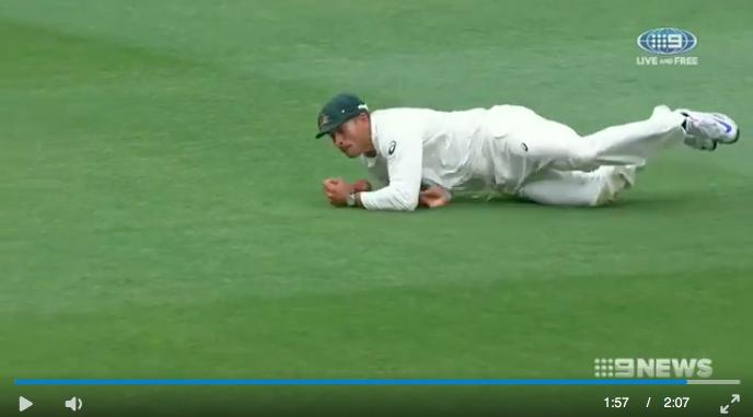 TV shows Khawaja dropping the ball.