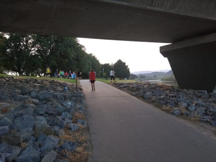 Heading for the start, 7:50am (8am start)