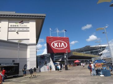 Eden Park sponsorship – on a relatively empty concourse