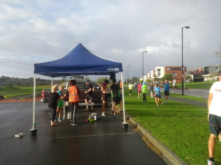 Millwater parkrun start and finish.
