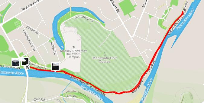 Palmerston North parkrun route