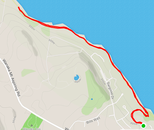 Wanaka parkrun route
