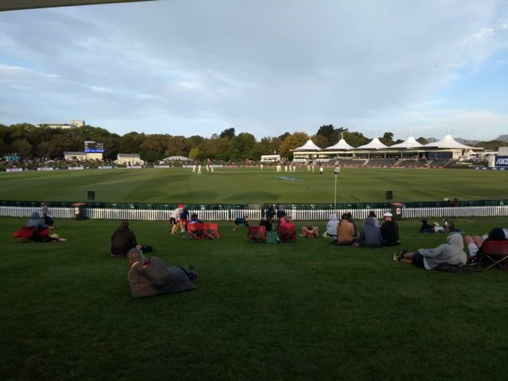 Hagley Oval panorama.