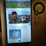 Air force museum twitter feed on the big screen.