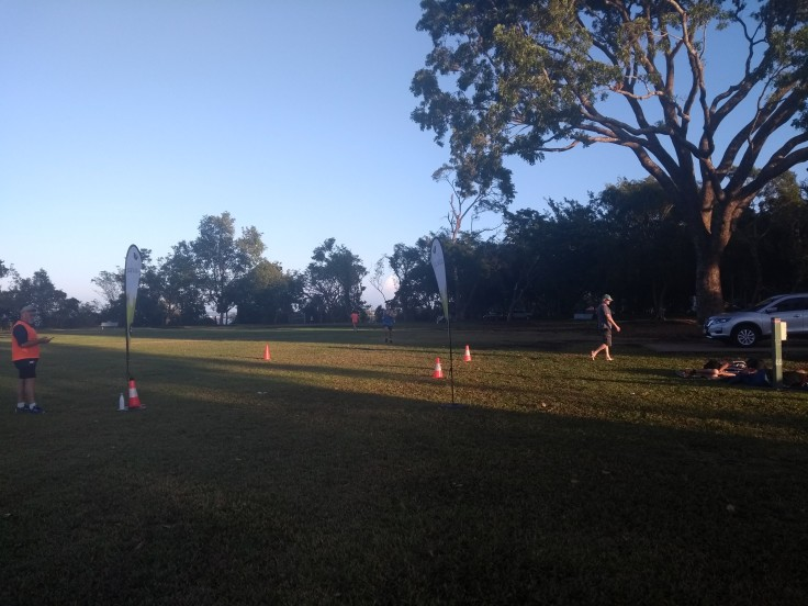 Darwin parkrun finish.