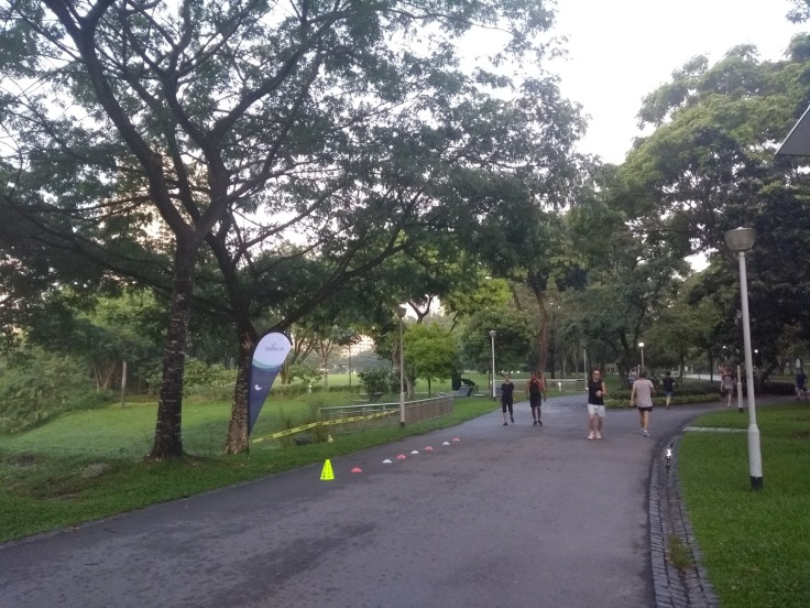 Bishan parkrun finish.