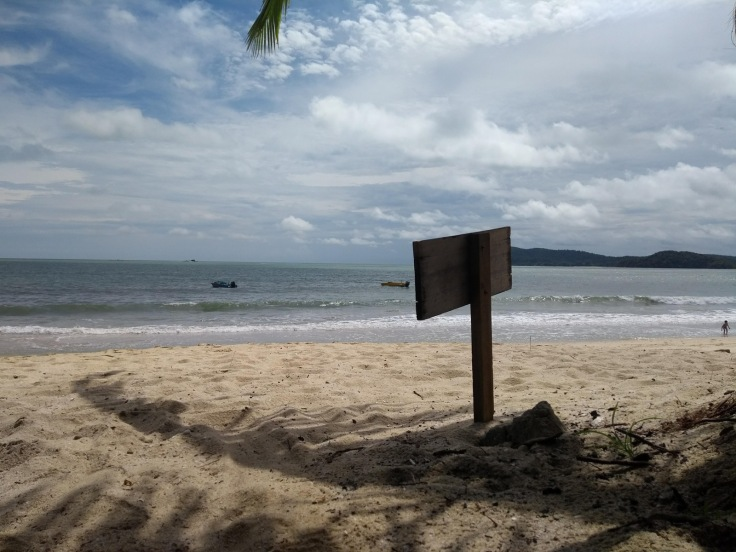 A shaded spot, Pantai Tengah beach.