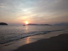 Sunset over Pantai Tengah beach