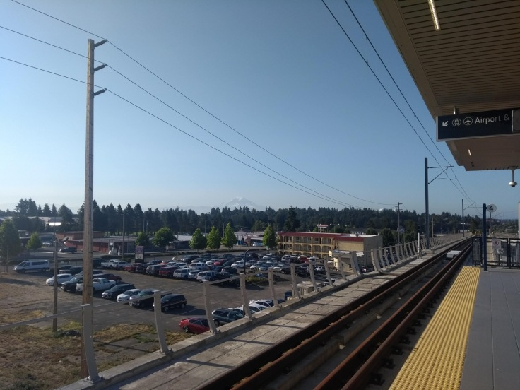 View from Angle Lake station
