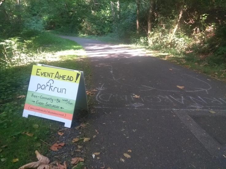 Sign advertising parkrun