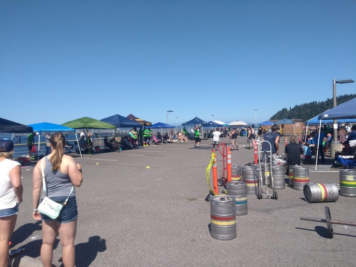 WA's strongest man competition on Des Moines seafront.