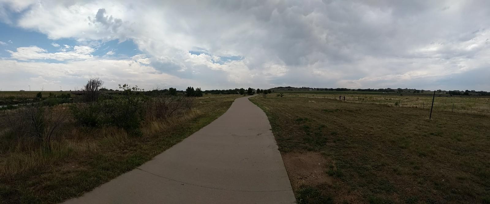 Wide concrete trail