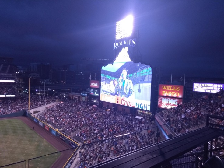 Big screen in the stadium