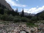 Rocks, then trees, then mountains