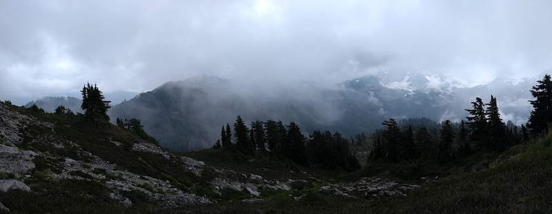 Panorama of the valley, N Cascades National Park