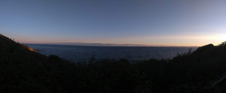 Panoramic view South towards Port Angeles