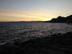 Sun setting over Beacon Hill park