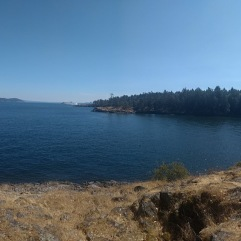 Ruckle Provincial park, looking out over other Southern Gulf islands