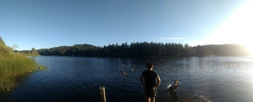 Cusheon lake, from the pier