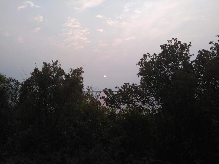 Orange ball in the sky