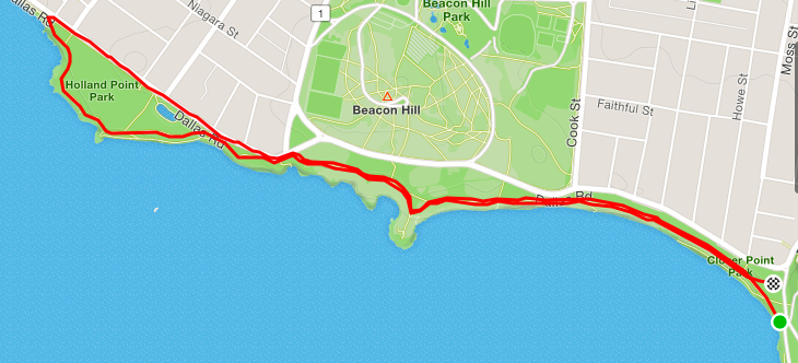 Clover Point parkrun route