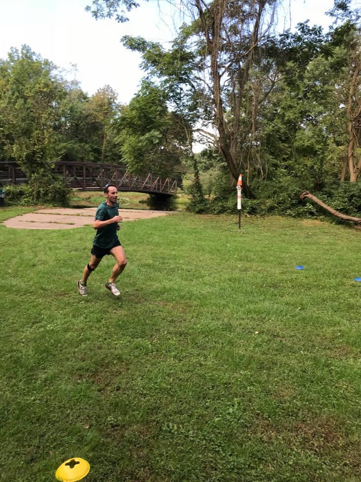 Me, finishing D&R parkrun
