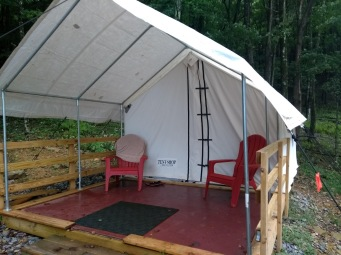 Safari tent porch