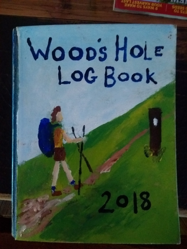 Logbook cover, Woods Hole hostel