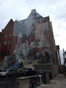 Mural, three stories high