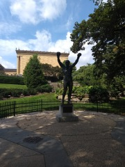 Rocky statue, outside Museum of Art