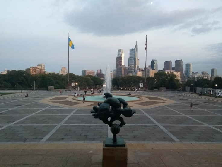 View of Philadelphia from the Museum of Art