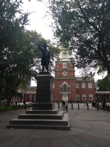 Barry statue, by Independence Hall
