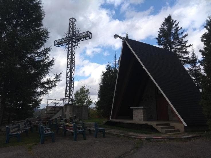 Outdoor worship, top of montagne de calvaire