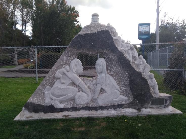 Sculpture, outside Garage de la Culture