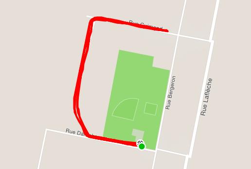 Saint-Paulin parkrun route