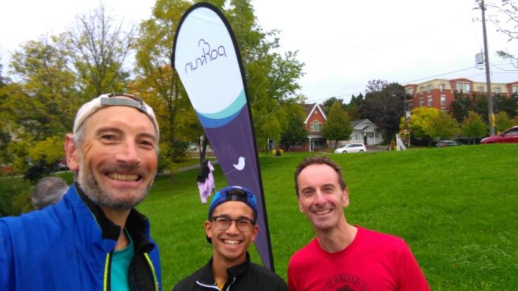 Garry, Matthew, Me, at the finish