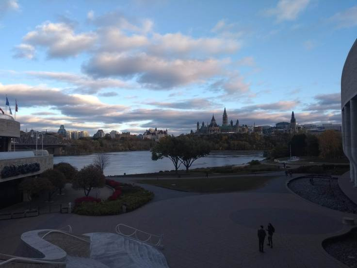 View of Parliament, behind the National Museum