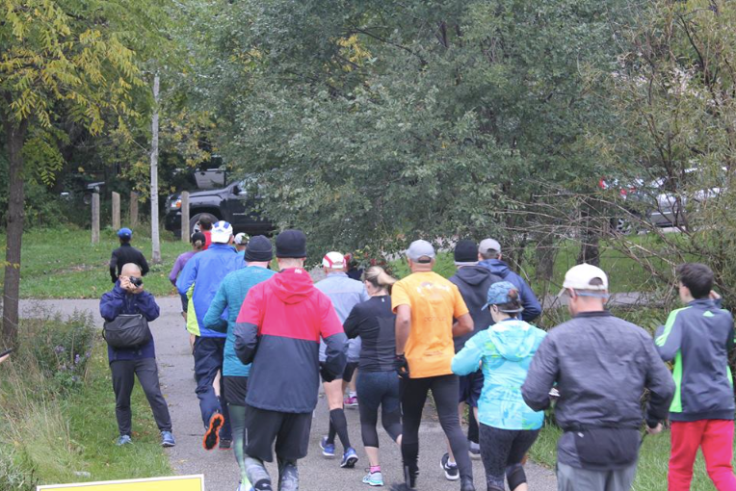 The first Duffins Trail parkrun starts