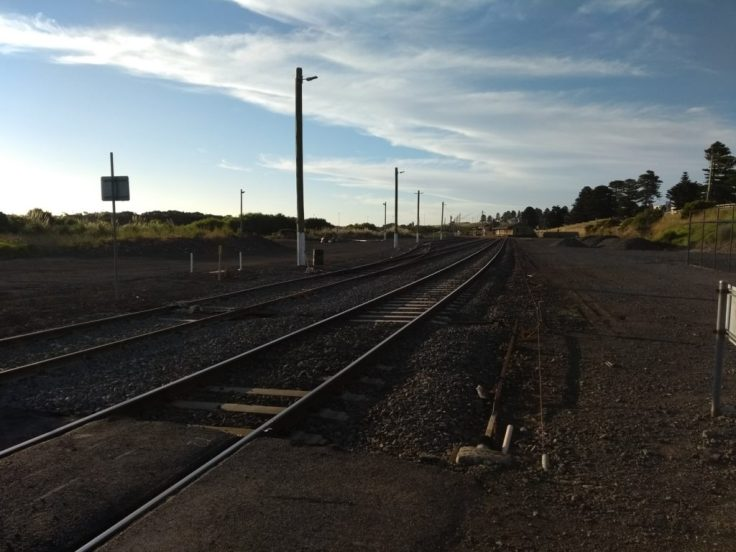 Railway line at Warrnambool