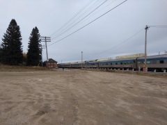 Train 1 waits in Hornepayne