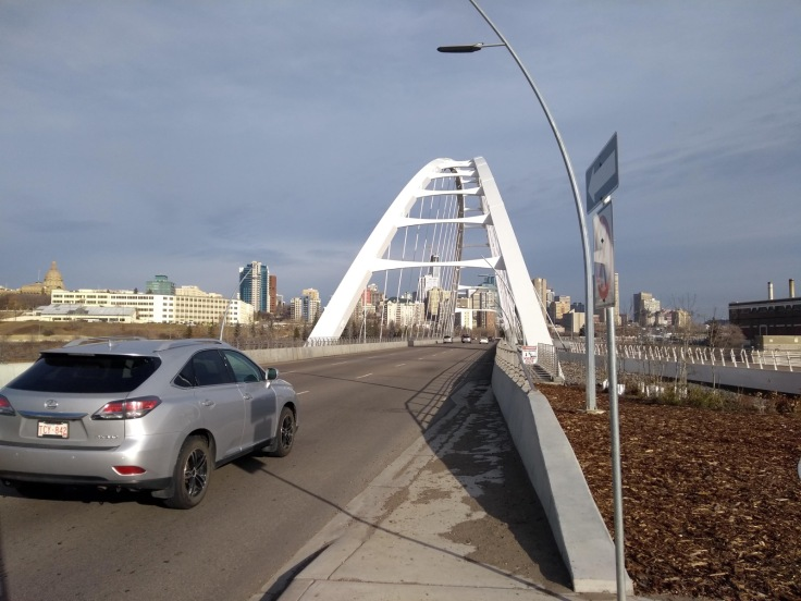 Bridge to downtown Edmonton