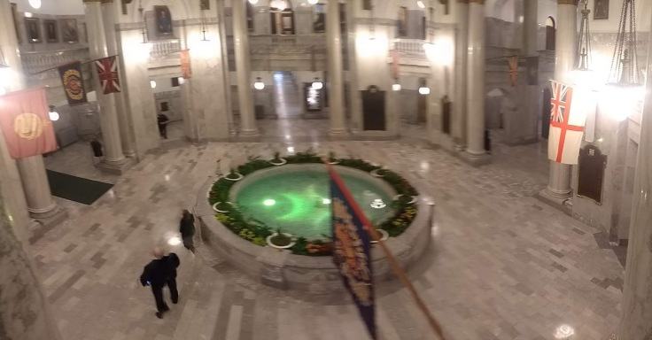 Fountain in the main hall